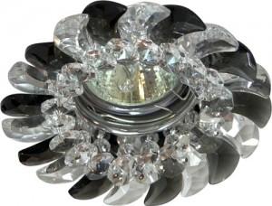 CD2316, светильник потолочный, MR16 G5.3 с прозрачным-серым стеклом, хром, с лампой