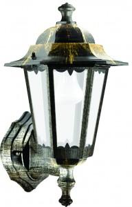 6101, светильник садово-парковый, 60W 230V Е27 черное золото