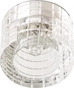 CD2111, светильник потолочный, JCD9 G9 с прозрачным стеклом, хром, с лампой