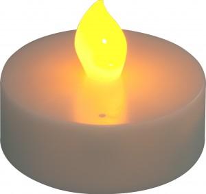 """FL075, светодиодная свеча """"таблетка"""", желтый"""