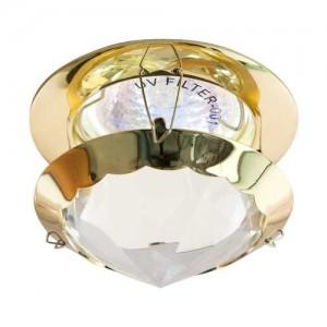 CD29, светильник потолочный, MR16 50W G5.3 прозрачный, золото (с лампой)