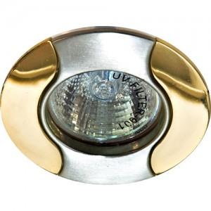 020Т-MR11, светильник потолочный, титан-золото