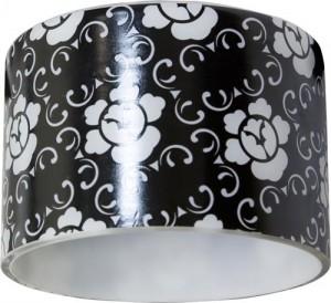"""CD6037, светильник потолочный, MR16 50W G5.3 """"цилиндр"""" черный фон - белый рисунок"""