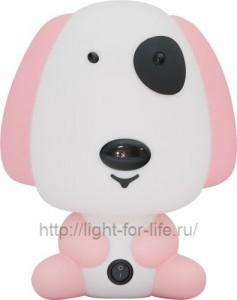 DE1601, светильник для детской, розовая собачка