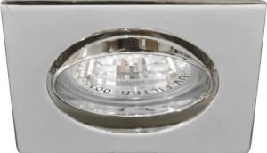 """DL2010S, светильник потолочный, MR16 50W G5.3 """"квадрат"""" хром"""