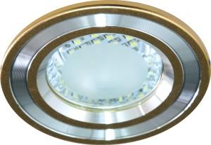 DL4747, светильник встраиваемый, 24LED 2.5W 6500K  золото