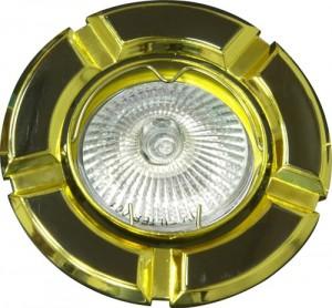 098Т-MR16, светильник потолочный,  черный-золото