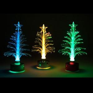 LT047,  набор из 12 елочек-фонтанчиков, плавно меняющих цвет свечения
