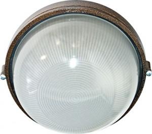 НПО11-100-01, светильник пылевлагозащищенный накладной, 230V Е27, бронза