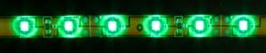 LS604, светодиодная лента влагозащищенная, цвет свечения: зеленый, 5m, 4.8W/m