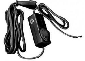 Сетевой шнур с диммером 230V 1,5+0,5м, черный, DM103-200W