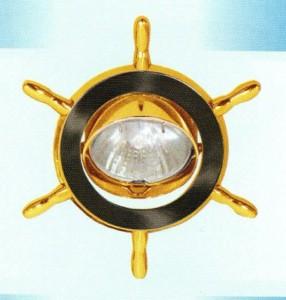 A61, светильник потолочный, MR16 50W G5.3 чёрный/золото