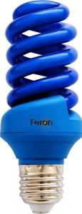 ELSM51B-Color, лампа энергосберегающая, 20W 230V E27 спираль T3 синяя