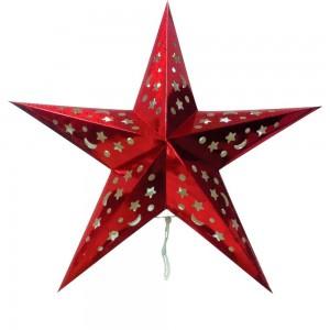 """LT101 Новогоднее украшение """"звезда"""" на батарейках красный"""