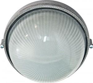 НПО11-100-01, светильник пылевлагозащищенный накладной, 230V Е27, серебро