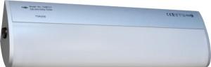 """CAB157, светильник люминесцентный """"овал""""  с лампой,  21W  T5, серебро"""