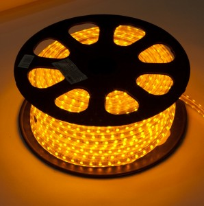 LS707/LED-RL, светодиодная лента, 60SMD(5050) 14,4W/m 220V IP68, длина 50m, 14mm*8mm, желтый
