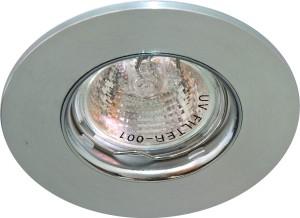 DL105-C, светильник потолочный встраиваемый, MR16  12V G5.3 матовый хром/хром