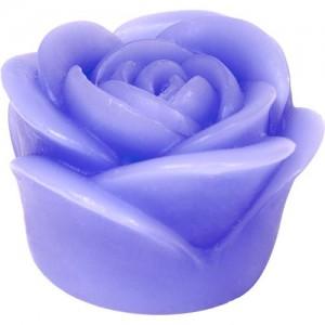 "FL090, Декоративная свеча ""свеча роза"" фиолетовая на батарейках 1LED красный"