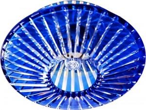 CD2116, светильник потолочный, JCD9 G9 с синим стеклом, с лампой