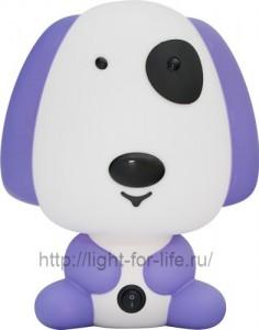 DE1601, светильник для детской, сиреневая собачка