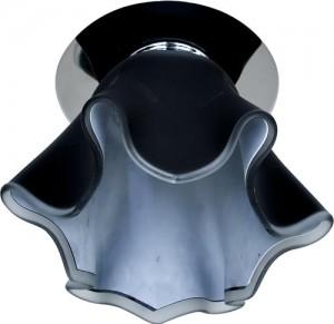 CD2214, светильник потолочный, JCD9 40W G9 с черным стеклом, хром