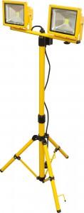 LL-263, прожектор светодиодный, 2LED*20W-дневной (6500К) 230V желтый (IP65)  на штативе