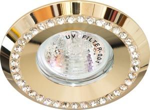 DL104-C, светильник потолочный встраиваемый, MR16  12V G5.3 золото