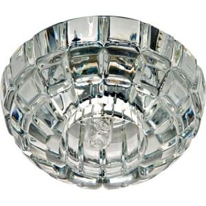 JD87, Светильник потолочный со светодиодной лампой 5W с прозрачным стеклом,хром