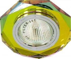 8020-2, светильник потолочный, MR16 G5.3 5-мультиколор, серебро