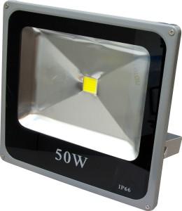 LL-275, прожектор светодиодный тонкий,  1LED*50W-белый 230V 6500K серый (IP65)