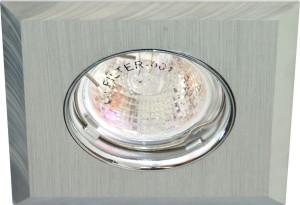 DL106-C, светильник потолочный встраиваемый, MR16  12V G5.3 матовый хром/хром