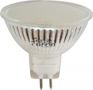 LB-24, лампа светодиодная, 44LED(3W) 230V G5.3 6400K  MR16 матовая