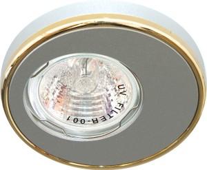 DL1A, светильник потолочный встраиваемый, MR16  12V G5.3 алюминий/золото
