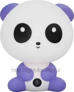 DE1602, светильник для детской, сиреневая панда