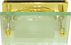 3781, светильник потолочный, R63 Е27 со стеклом, золото