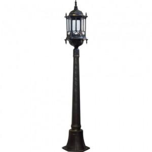 PL117, светильник садово-парковый, 60W 230V E27  черное золото