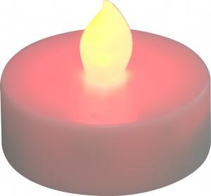 """FL075, светодиодная свеча """"таблетка"""", красный"""