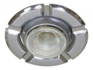 098-R50, светильник потолочный,  серый-хром