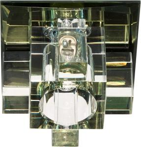 1525,  светильник потолочный, JCD9 G9 с желтым стеклом, с лампой