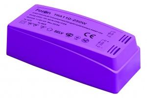 TRA110, трансформатор электронный понижающий, 230V/12V 250W пластик розовый