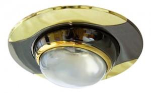 020-R39, светильник потолочный, черный-золото