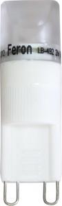LB-492, лампа светодиодная капсульная, 1LED(2W) 230V G9 6400K