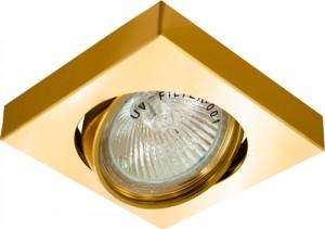 DL163, светильник потолочный, MR16 50W G5.3 золото