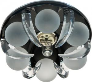 CD2530, светильник потолочный, JCD9 G9 c прозрачным и матовым стеклом, черный, с лампой