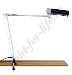 DE1405, настольная лампа на струбцине, ESB 9W 230V Е27 черный c лампой