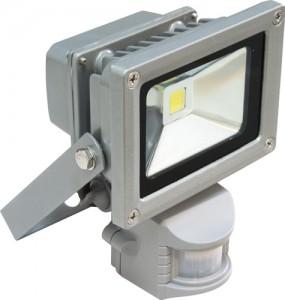 LL-222, прожектор светодиодный c датчиком движения, 1LED/10W-белый 230V
