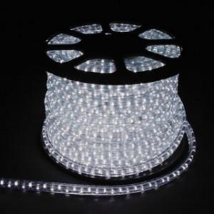 Дюралайт светодиодный, 2W 100м 230V 36LED/м 13мм, белый 7000K, LED-R2W