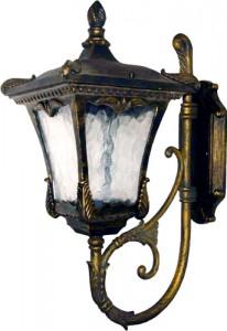 6003QM, светильник садово-парковый, 100W 230V E27 черное золото