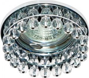 CD2130, светильник потолочный, MR16 G5.3 с прозрачным стеклом, хром